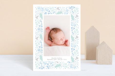 Floral Love Birth Announcement Postcards