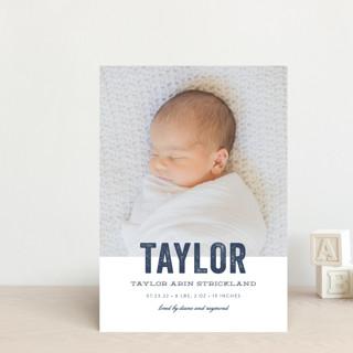 Statement Birth Announcement Postcards
