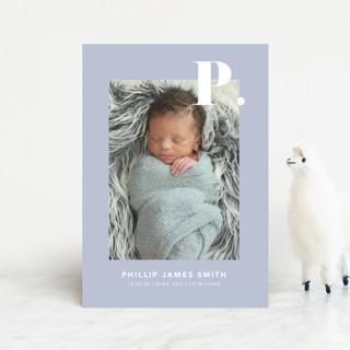 Bold Capital Birth Announcement Postcards