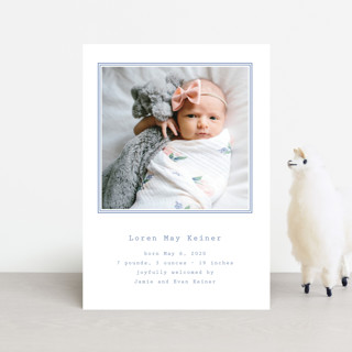Editor Birth Announcement Postcards