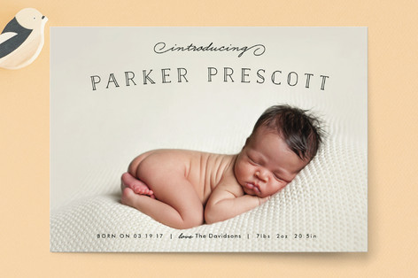 Organic Newborn Birth Announcement Postcards