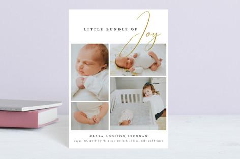 little bundle of joy Birth Announcement Postcards