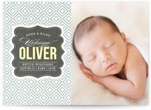Vintage Paper Birth Announcement Postcards