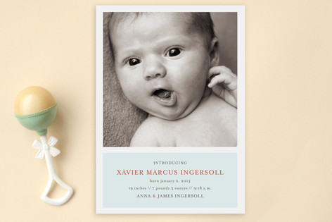 Poetic Birth Announcement Postcards
