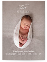 Love at First Sight Birth Announcement Postcards