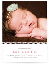 Sweet Lace Birth Announcement Postcards