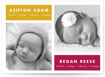 Modern Multiples Birth Announcement Postcards