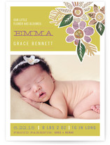 Heirloom Bloom Birth Announcement Postcards