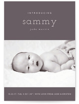 Bebe Chic Birth Announcement Postcards