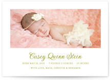 Pure Birth Announcement Postcards