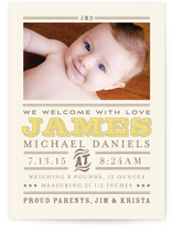 Wild West Baby Birth Announcement Postcards