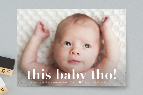 melting hearts Birth Announcement Postcards