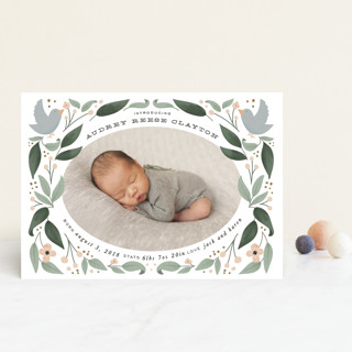 little birdie Birth Announcement Postcards