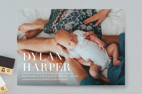 Namely Birth Announcement Postcards