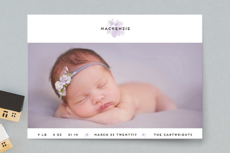 Orchid Birth Announcement Postcards