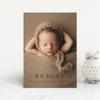 Bold Classic Birth Announcement Postcards