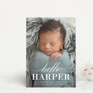 Little Hello Birth Announcement Postcards