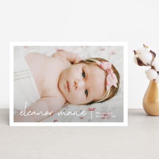 Minimum Birth Announcement Postcards