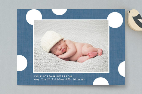 Baby Dots Birth Announcement Postcards