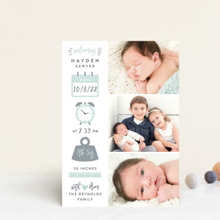 Measures Of Love Birth Announcement Postcards