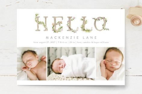 Morning Garden Birth Announcement Postcards