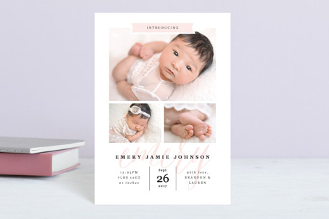 Baby Name Birth Announcement Postcards