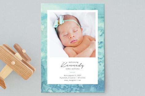 Ocean of Joy Birth Announcement Postcards
