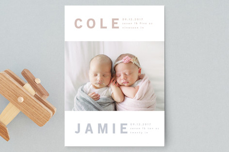 bonded Birth Announcement Postcards