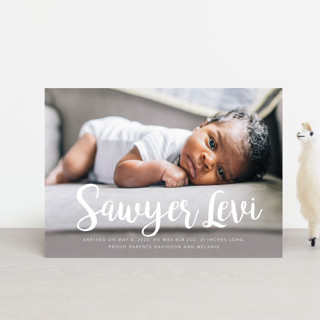 Big & Bold Birth Announcement Postcards