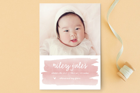 Sweet Splash Birth Announcement Postcards