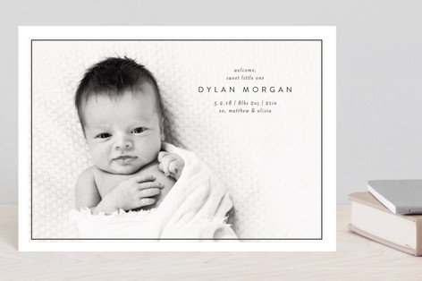 Sweet Little One Birth Announcement Postcards