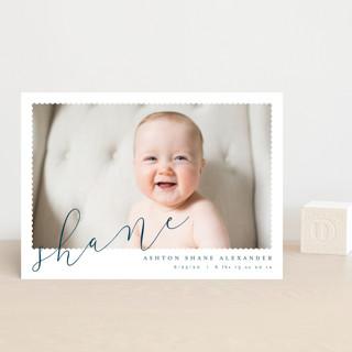 Minimal Modern Birth Announcement Postcards