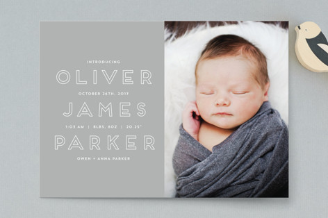 Introduction Birth Announcement Postcards