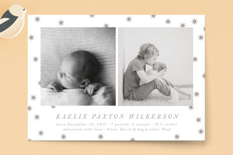 Étoile Birth Announcement Postcards