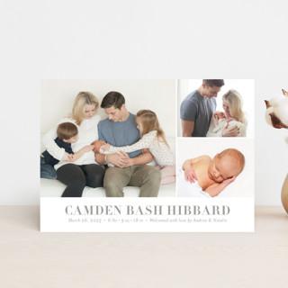 Sweet Grid Birth Announcement Postcards