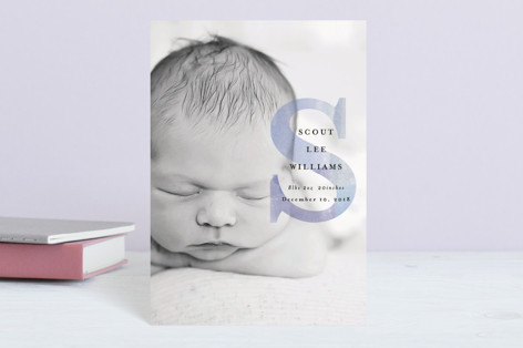 initial introduction Birth Announcement Postcards