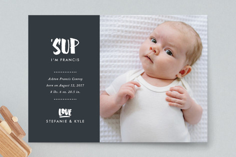 'Sup Birth Announcement Postcards
