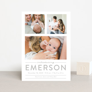 tranquil Birth Announcement Postcards