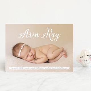 Baby Script Birth Announcement Postcards