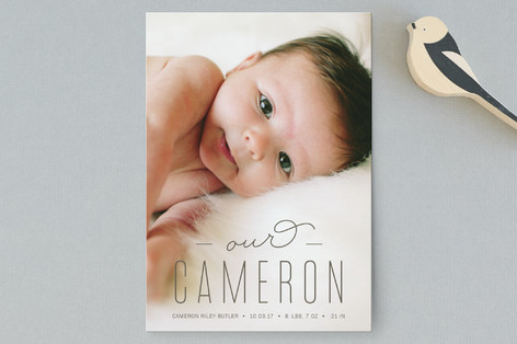 All Ours Birth Announcement Postcards