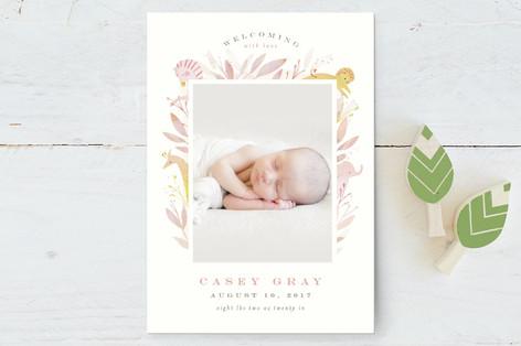 Safari Birth Announcement Postcards
