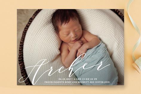 Namesake Birth Announcement Postcards