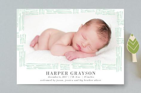 Summer Love Birth Announcement Postcards