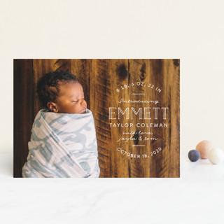 Basic Intro Birth Announcement Postcards