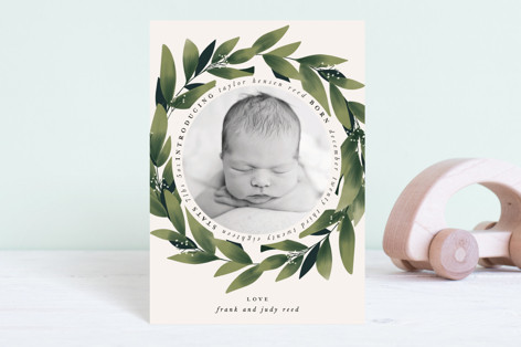 Encircled Birth Announcement Postcards