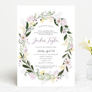 Floral Sprinkle Bris and Baby Naming Invitations