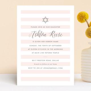Sleek Bris and Baby Naming Invitations