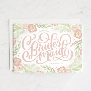 Ranunculus Frame Bridesmaid Cards