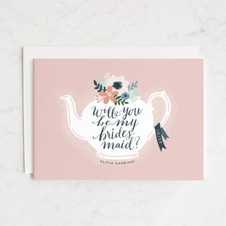 Teapot Flower Bridesmaid Cards