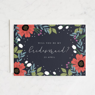 Bridal Floral Bridesmaid Cards